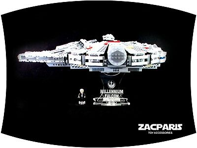DISPLAY STAND for Lego 75105 7965 Millennium falcon - Clear acrylic Nice!
