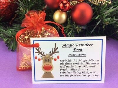 Magic Reindeer Food - Christmas Eve Kids Activity - Traddition - Dust - Red