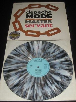 """Depeche Mode rare '84 GREY MARBLED 12"""" Master And Servant on Mute  ex+ top copy"""