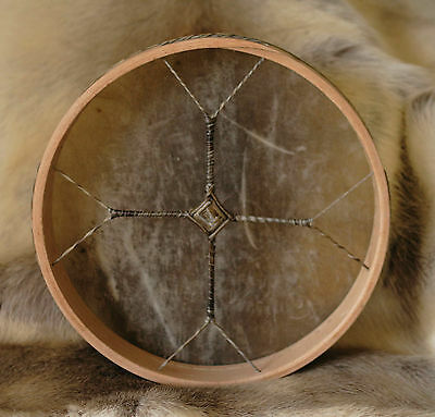 """14"""" Red Deer Shamanic Drum on Birch Hoop - with Beater"""