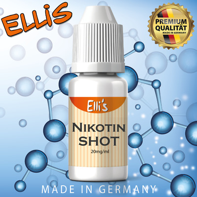 Nikotin Shot Set 5x 10ml, 50PG/50VG, 20mg für Liquid by Sensation auch 20PG/80VG