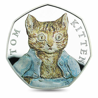 TOM KITTEN - BEATRIX POTTER SERIES - 2017 Sterling Silver Proof Color Coin