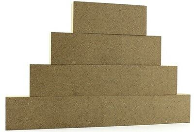 10 sets of 4 - 18mm Mdf Freestanding stacking blocks, CNC cut Craft shapes 4cm