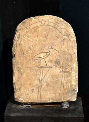 An Ancient Egyptian Limestone Round Top Stele