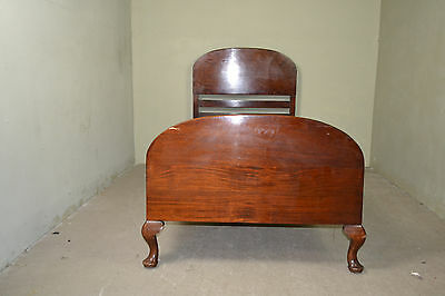 Antique Victiorian mahogany bed with mattress support