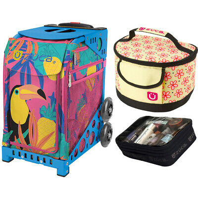 Zuca Sport Toucan Dream Bag & Blue Frame, Gift Lunchbox + Pouch (Ltd. Ed.)
