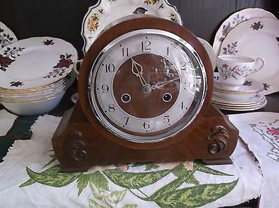 A Very Nice Old Mantle Clock  With  Gong (Federal Is Stamped On Face)