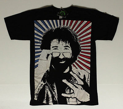 Jerry Garcia _RARE SF Rock Photo L Shirt - Grateful Dead Band Art West Side