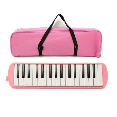 Pink Melodica 32 Key Instrument Complete With Pipe Attachment And Carry Bag