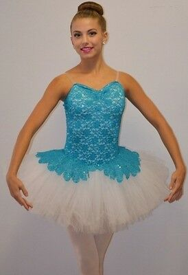 Poetic Dance Costume TURQUOISE Lace Ballet Tutu Clearance 6X7,CL,AS,AL,AXL