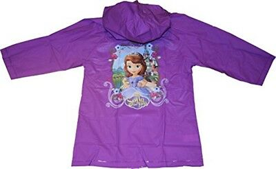 Kids Girl's Sofia the First Hooded Rain Coat Jacket Waterproof Youth Toddler