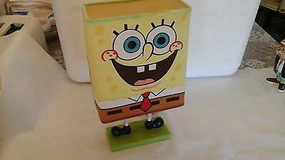 "Cute 12"" Sponge Bob Square Pants Childs Electric Lamp"
