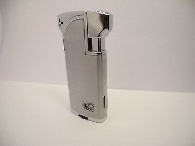 Colibri Quantum Dual Flame Torch/soft  Brushed Silver Lighter New