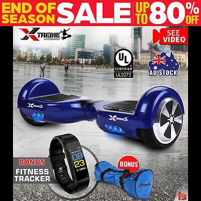 XTREME Smart Self Balancing Hoverboard Electric Blue 2 Wheel Scooter HoverBoard