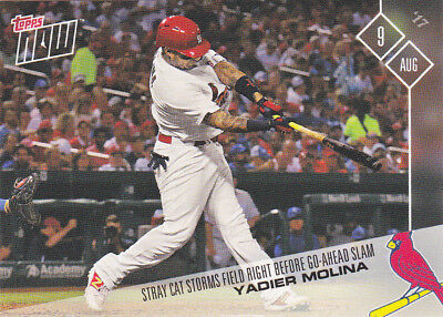 2017 Topps NOW 462 Yadier Molina Cardinals Slam Rookie Rally Cat RC Lorenzo Cain