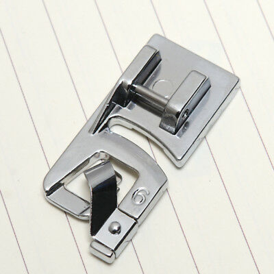 1pcs Hard Rolled Hem Foot For Brother Janome Singer Silver Bernet Sewing Machine