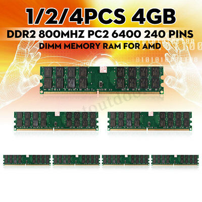 Memory RAM 8 GB 2x4GB DDR2 800Mhz PC2 6400 240 pins Dimm For CPU AMD Motherboard