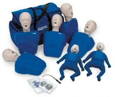 CPR Prompt 5 Adult / Child Manikins and 2 Infant Manikins (Tan or Blue)