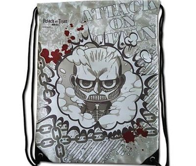 New Attack On Titan Drawstring Shoe Bag Mini Backpack Storage Organizer Portable