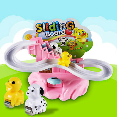 Activity Newborn Early Educational Baby Toy Learning Slide Track Manually Rotate