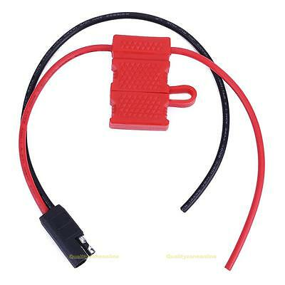 #QZO Power Cable For Motorola Mobile Radio CDM1250 GM360 CM140 With Fuse