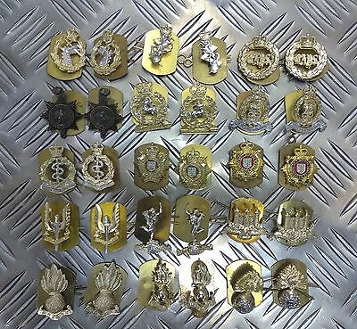 Genuine British Army Military Issue Collar Dogs Metal Regimental Badges Asst