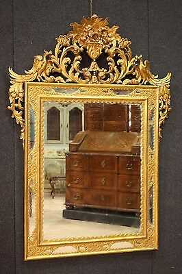 Mirror wood golden mirror furniture antique style antiques blossom 900