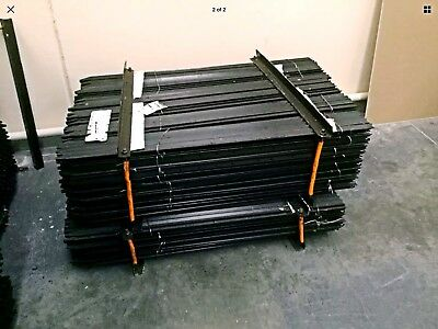 Star Pickets BLACK Steel Fence Post 300mm 10 pack