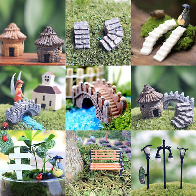 Miniature Fairy Garden Ornament Decor Pot DIY Craft Accessories Dollhouse Lots
