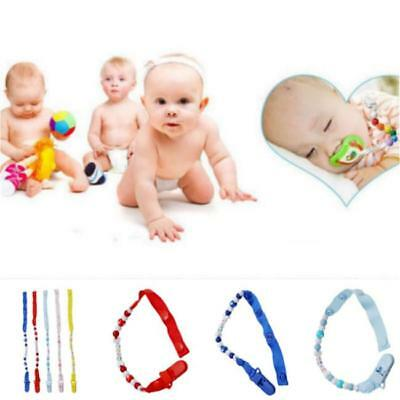 1PC Baby Pacifier Chain Infant Boys Girls Dummy Soother Nipple Clip Holder JJ