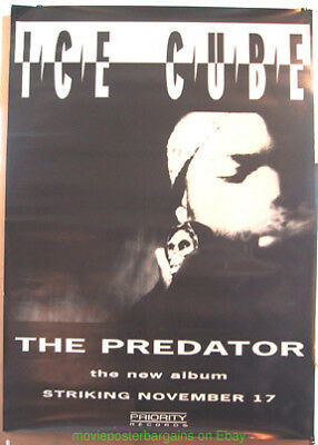 ICE CUBE POSTER Ultra Rare HUGE ! Wilding 1992 Album PROMO 40 BY 60 INCH