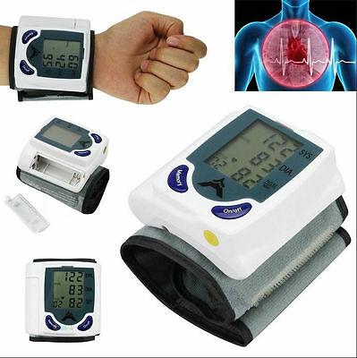 Digital LCD Wrist Blood Pressure Monitor With Heart Beat Rate Pulse Measure L WM