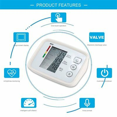 Voice Prompt Large Screen Intelligent Arm Type Electronic Blood Pressure Meter Q