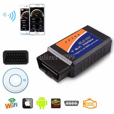 ELM327 OBD2 Car WiFi Scanner DTC Reset Bluetooth Tool For iPhone Android / iOS