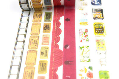 Lover Date Theme Washi tape Film Movies Cinema Drink Beverages Snacks washi tape