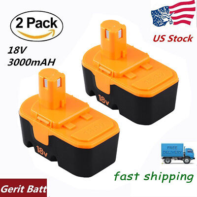3.0AH Replace for Ryobi 18V Battery NiMh ONE P100 P101 Plus ABP1801 ABP1803-2PCS