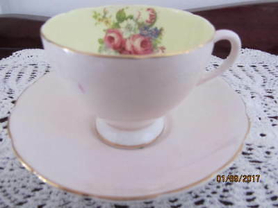Vintage - ''foley'' China  ''pink Floral'' Cup & Saucer Duo