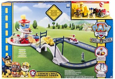 New Paw Patrol Launch On A Roll Lookout Tower Track Sets Kids Play Toys Gifts