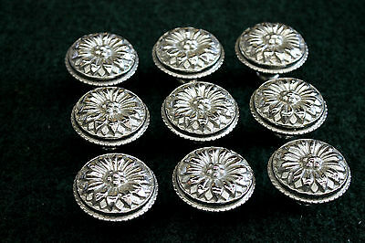 """9 Large Cabinet Knobs in Polished Nickel Finish 1 3/4"""" Round x 1 3/8"""" Projection"""