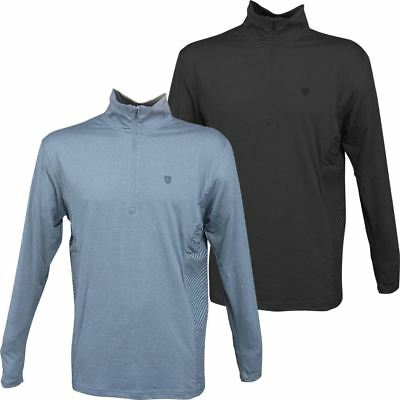 Island Green 2017 Mens Thermal 1/4 Zip Breathable Baselayer Long Sleeved Top