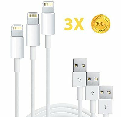 3X USB Lightning Cable Data + Sync Charge Cord for Apple iPhone 6 7 8 X Plus