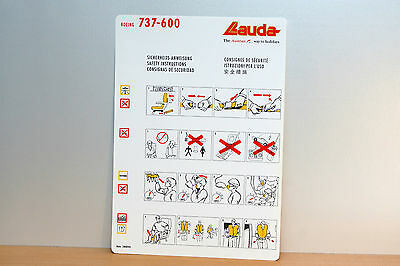 068 - Safety Card - Sicherheitskarte - Lauda Air - Boeing 737-600