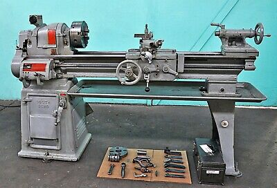 """SOUTH BEND 13"""" x 40"""" ENGINE LATHE with 8"""" 4-JAW & 6"""" 3-JAW CHUCK"""