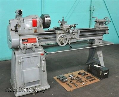 """SOUTH BEND ENGINE LATHE 13"""" x 40"""" with 9"""" 3-JAW CHUCK, TOOL POST, HOLDERS & MORE"""
