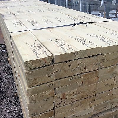 6 inch x 2 inch by 12ft / 150mm x 47mm by 3.6m Tanalised Timber