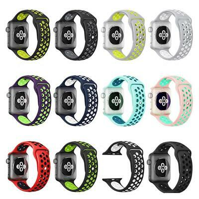 Apple Watch 42mm/38mm iWatch Soft Silicone Replacement Strap Sport Wrist Band*