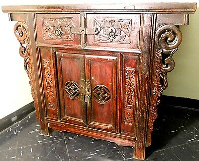 """Antique Chinese """"Butterfly"""" Cabinet (2544), Circa 1800-1849"""