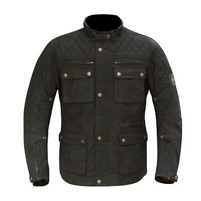 Merlin Yoxall Wax Motorbike Waterproof Textile Jacket With Safetech CE Armour
