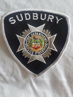 Canadian Fire Department Patch Sudbury Ontario