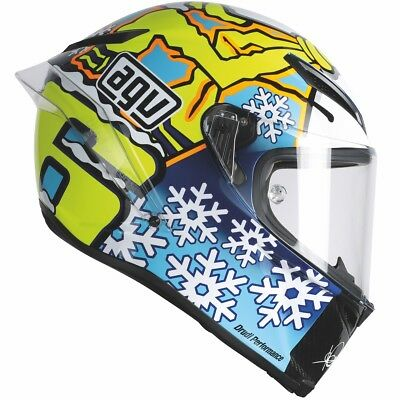 AGV Pista GP Winter Test Snow Man Yellow/Blue/White